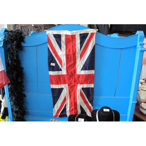 11 - Burlap Union Jack flag...