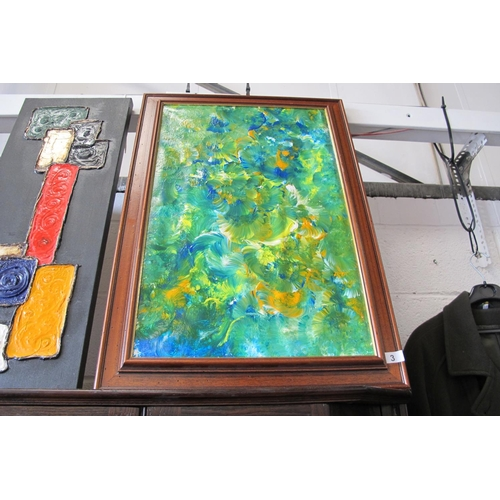 3 - Framed original mixed media painting by artist Terence Geary....