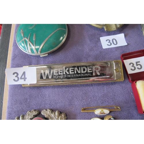 34 - Weekender Hohner International harmonica...