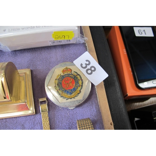 38 - Royal Engineers compact mirror...