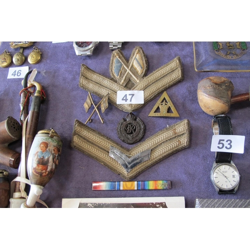 47 - Various war badges and memorabilia to include-On War Service 239043...