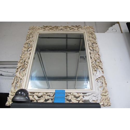 1 - A very large carved plaster mirror...