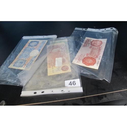46 - Various old British bank notes...