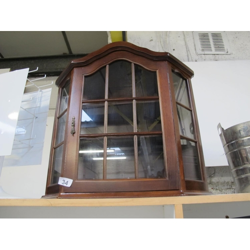 34 - Wooden and glass display cabinet...