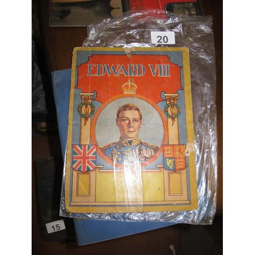 20 - A vintage magazine for Edward VIII published before his abdication as though his coronation had take...