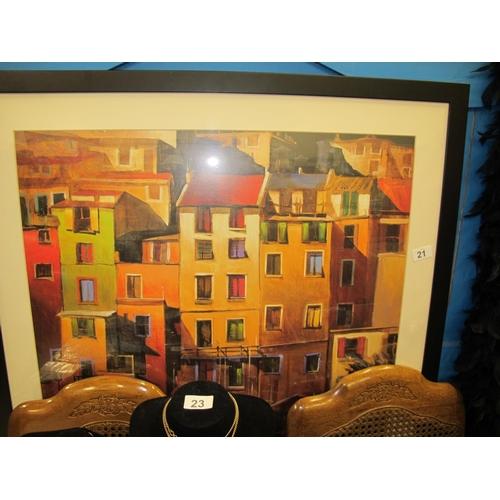 21 - Large framed and glazed print...