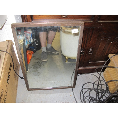 5 - Vintage wood framed mirror...