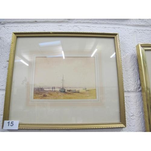 15 - Gilt framed and glazed coastal print...