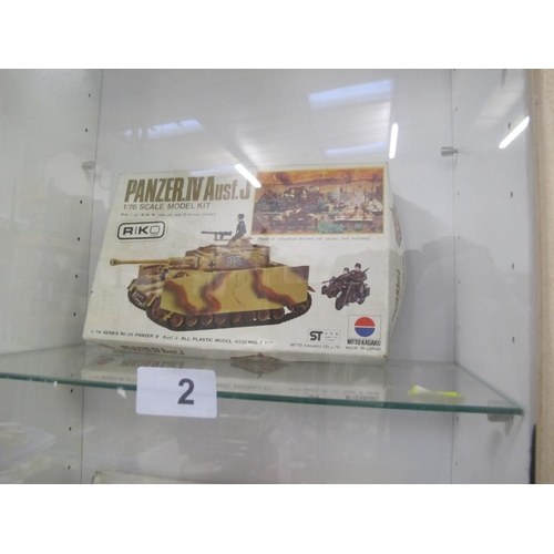 2 - Nitto Kagaku Panzer. IV Ausf.J Air 1/76 scale model complete in box...