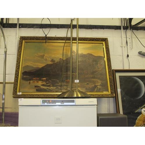 20 - Large framed glossed print...