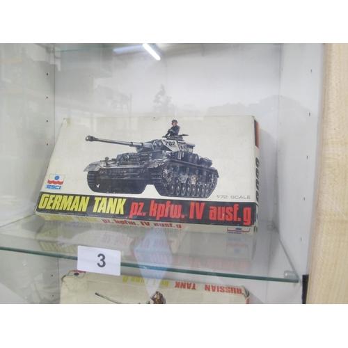 3 - Esci German Tank pz. kpfw. IV ausf. g 1/72 scale model complete in box...