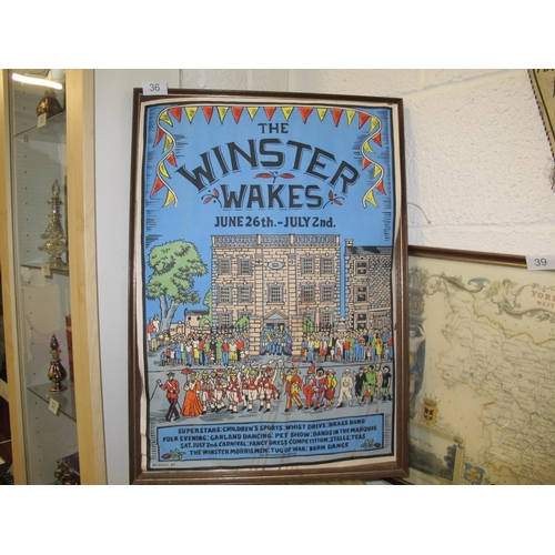 36 - The Winster Wakes poster print by Ros. Forster 83...