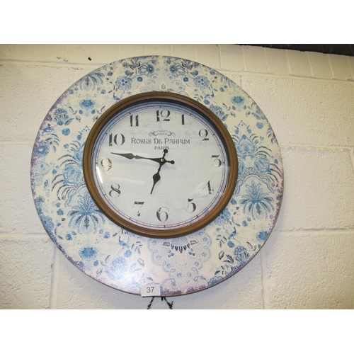 37 - Large French style wall clock...