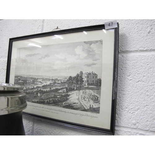 47 - Framed and glazed Parliamentary plate print...