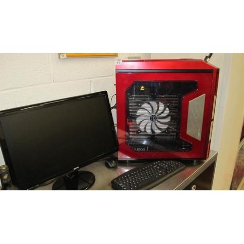 11 - Gaming PC setup. AMD FX 8350 8 Core processor,16Gb RAM, Nvidia GTX570 graphics, 4Tb HDD...