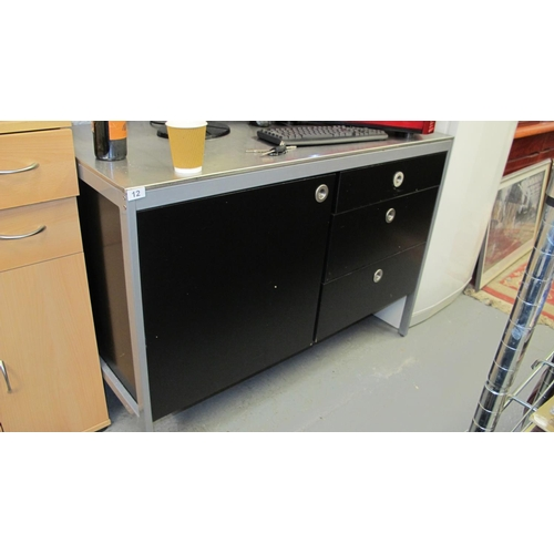 12 - Stainless steel catering cupboard...