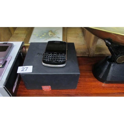 27 - A Blackberry...