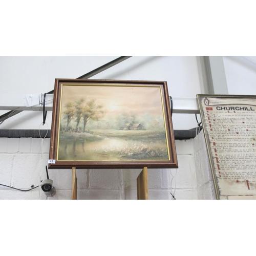 41 - Framed oil painting...