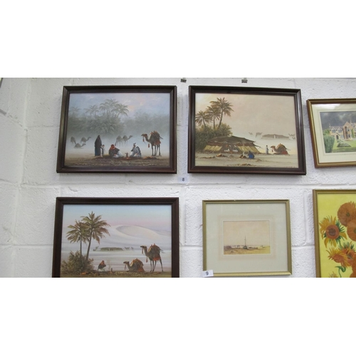 8 - Three framed original oil paintings signed by artist Young...
