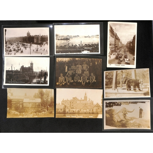 37 - Picture Postcards. c.1902-30 Real Photo postcards, mainly topographical views including railway staf...