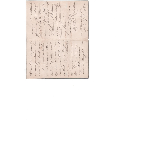 45 - Alfred Edward Chalon. 1848 (May 27) Three page letter to