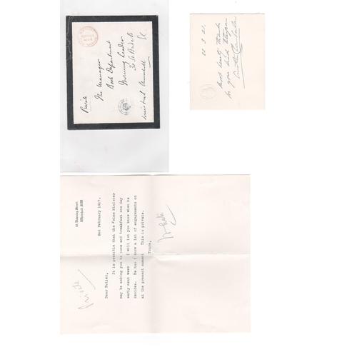 46 - Winston Churchill / Austen Chamberlain. 1910 (Nov 17) Mourning cover to the Morning Leader Book Depa...