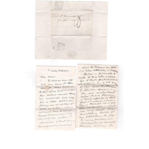 48 - James Dickson. 1802 Entire letter written and signed by the noted botanist James Dickson, posted fro...
