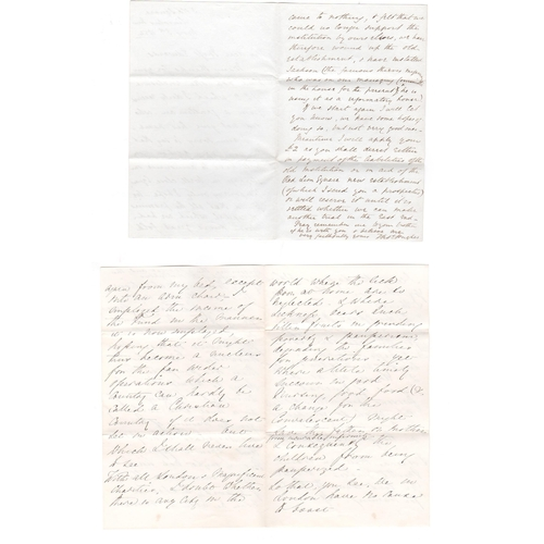 50 - Florence Nightingale. 1867 (Apr 20) Ten page letter to Miss Edwards, on