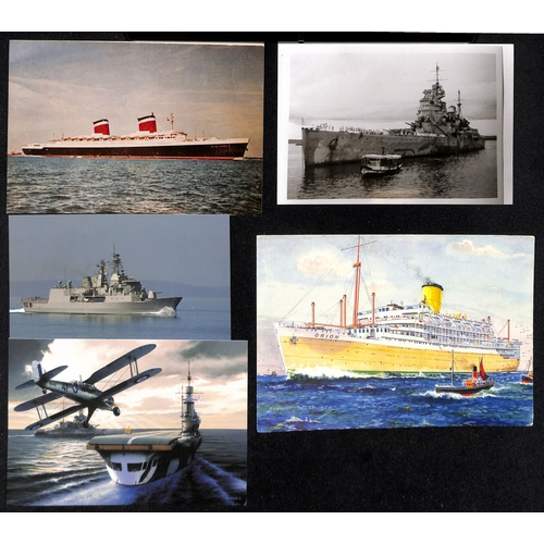 39 - Ships - World War Two. c.1905-50 Picture postcards and photos of ships, all of which were involved i...