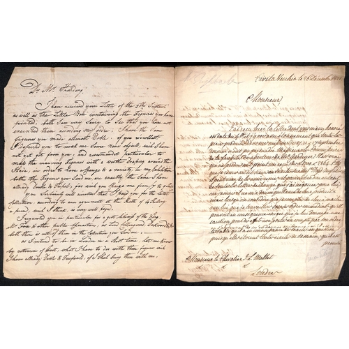 42 - c.1800-1911 Letters, etc., with autographs, mainly artists or authors, including 1825 letter written...
