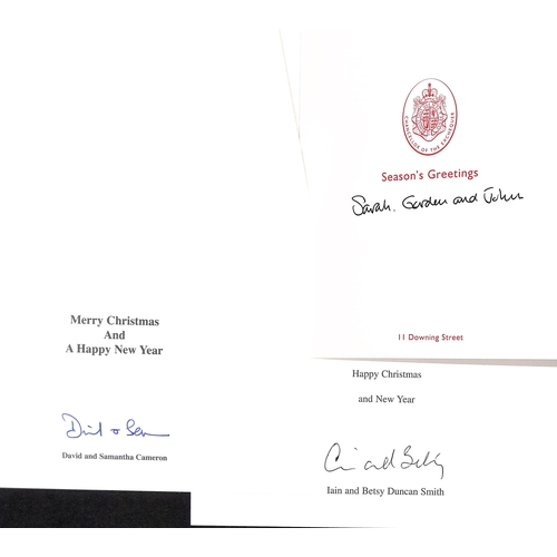 44 - c.1991-2015 Christmas cards (17) mainly from politicians, including David & Samantha Cameron (2), To...