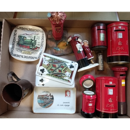 17 - Miniature Letterboxes. Mainly tin or other metals, including money boxes, coronation souvenirs, etc....