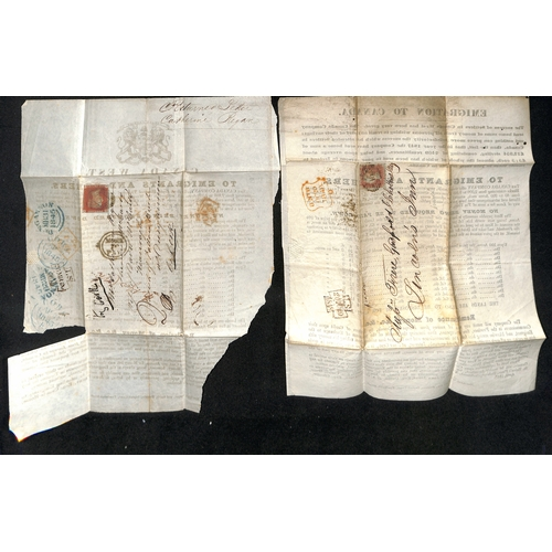 34 - Various printed ephemera, letters, invoices, receipts, etc., including c.1800 printed advert for