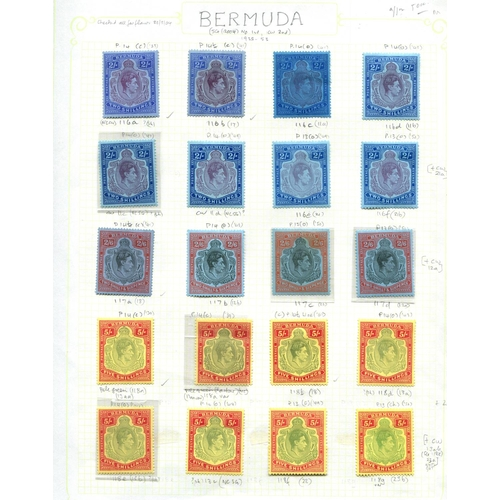 34 - 1938 mint collection of 'Key types' identified on pages (with a few unlisted shades) with 2/- x 8 in...