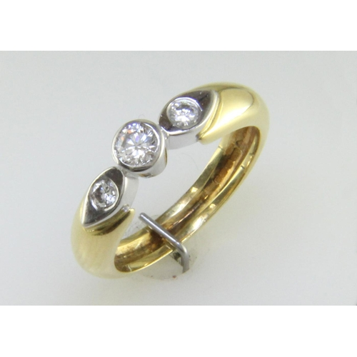 3 - Valued by GIE œ4,995.00 - 18ct Single Stone Rub Over Stone Set Shoulder Diamond Ring D SI 0.41 Carat...