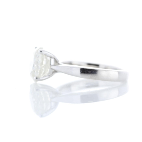 48 - Valued by GIE œ80,000.00 - 18ct White Gold Single Stone Prong Set Diamond Ring 3.70 Carats - 3103170...