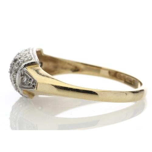32 - Valued by AGI ?879.00 - 9ct 29 Stone Ladies Dress Diamond Ring 0.29 Carats - 7192010, Colour-G, Clar...