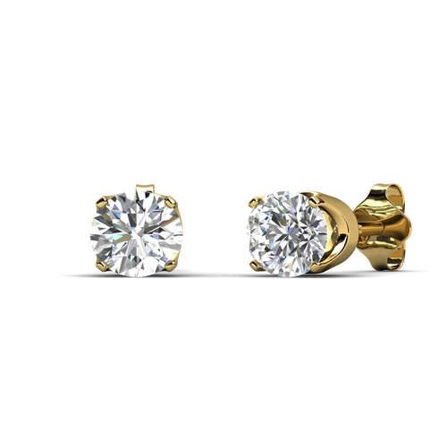 34 - Valued by GIE ?900.00 - 9ct Single Stone Four Claw Set Diamond Earring 0.20 Carats - 7203003, Colour...