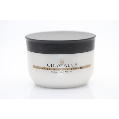 5 - X12 BRAND NEW OIL OF ALOE FACE AND BODY SCRUB, 300ML EACH, THERE ARE 12 ITEMS IN THIS LOT...