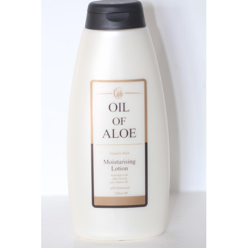 12 - X12 BRAND NEW OIL OF ALOE MOISTURISING LOTION, 400ML EACH, THERE ARE 12 ITEMS IN THIS LOT...