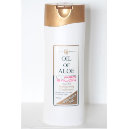 25 - X12 BRAND NEW OIL OF ALOE MOISTURISING CONDITIONER, 400ML EACH, THERE ARE 12 ITEMS IN THIS LOT...
