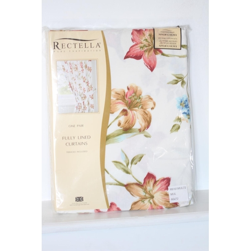 37 - X5 BRAND NEW RECTELLA FULLY LINED CURTAINS, WIDTH- 167CM, LENGTH- 182CM, RRP-?29.99each, THERE ARE 5...