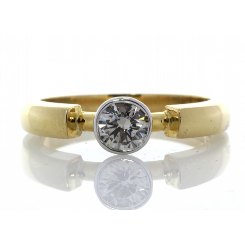 8 - Valued by GIE ?9,950.00 - 18ct Single Stone Fancy Rub Over Set Diamond Ring 0.53 Carats - 1107053, C...