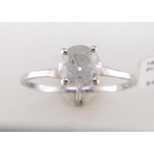 50 - Valued by GIE ?12,395.00 - 18ct White Gold Single Stone Prong Set Diamond Ring 1.09 Carats - 3103177...