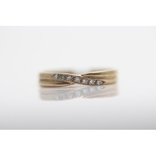 47 - 9CT YELLOW GOLD LADIES DIAMOND RING, RING SIZE- O (68)...