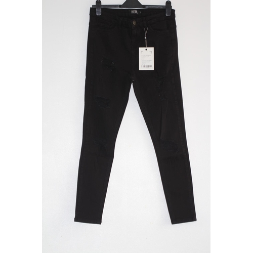 6 - MENS BRAND NEW WITH TAGS, HERA, RIPPED HIGH RISE JEANS, BLACK, UK SIZE 30S RRP £40...