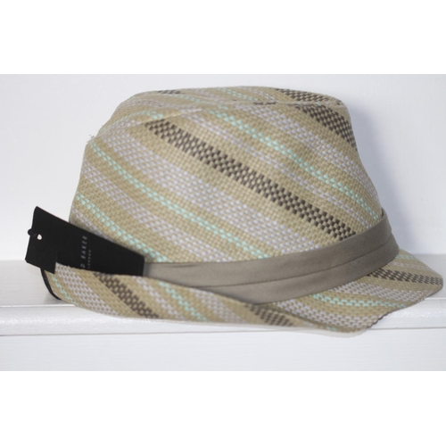20 - MENS BRAND NEW WITH TAGS, MULTI STRIPE PAPER TRILBY, MEDIUM - LARGE RRP £35...