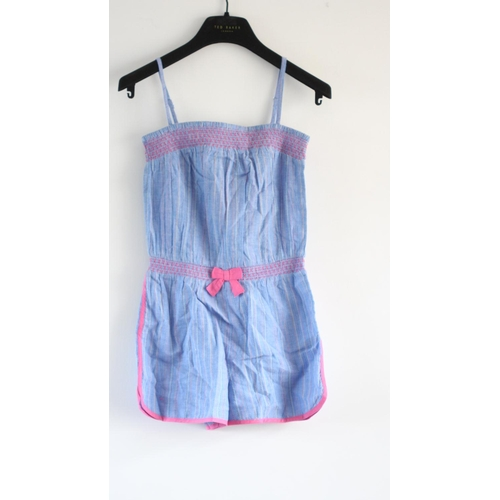 44 - CHILDRENS, MONSOON THEA PLAYSUIT, BLUE/PINK, UK SIZE 12-13 YEARS, RRP £20...