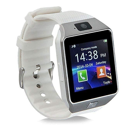 30 - BOXED BRAND NEW SMART WATCH, MODEL- YT-DZ09, SIM CARD FOR HTC ANDROID, WHITE RUBBER STRAP, INTEGRATE...