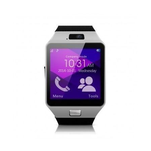 37 - BOXED BRAND NEW SMART WATCH, MODEL- YT-DZ09, SIM CARD FOR HTC ANDROID, BLACK RUBBER STRAP, INTEGRATE...